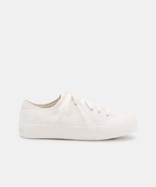 BRYTON SNEAKERS IN WHITE CANVAS -   Dolce Vita
