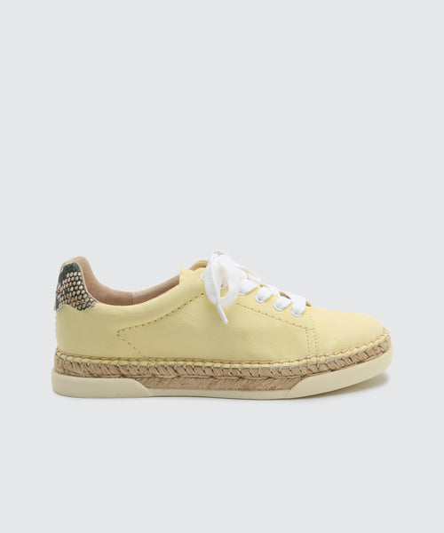 MADOX SNEAKERS IN LEMON -   Dolce Vita