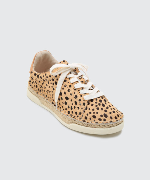 MADOX WIDE SNEAKERS IN LEOPARD CALF HAIR -   Dolce Vita