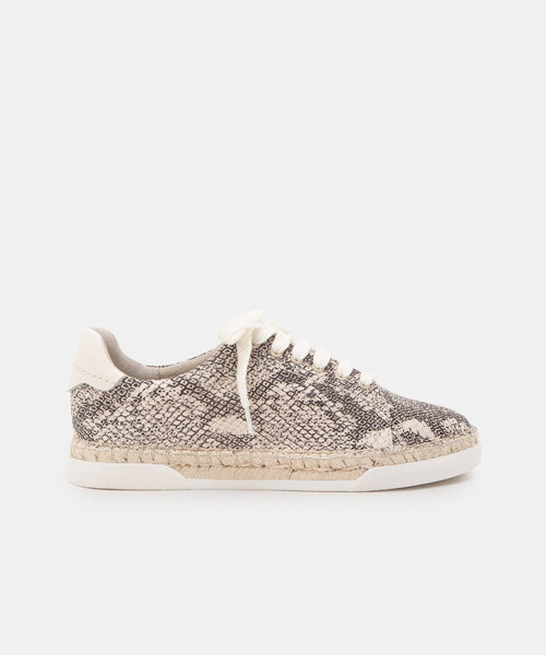 MADOX SNEAKERS IN STONE SNAKE PRINT LEATHER -   Dolce Vita