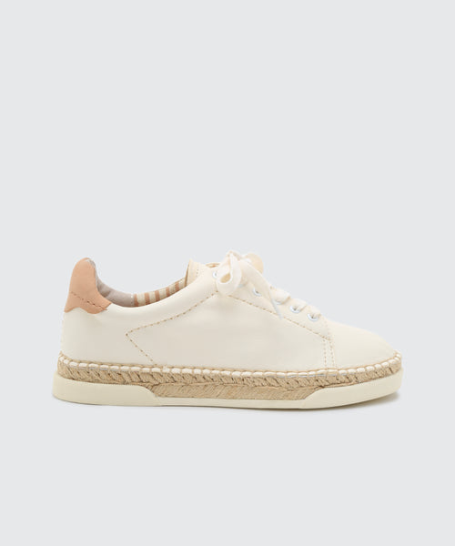 MADOX WIDE SNEAKERS IN WHITE LEATHER -   Dolce Vita