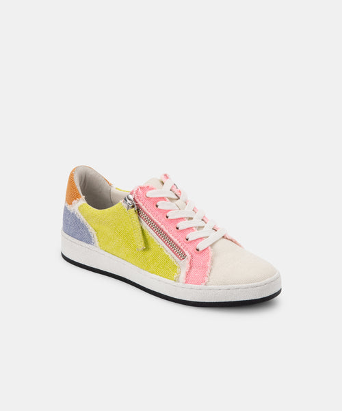 MIYA SNEAKERS IN SHERBET MULTI CANVAS -   Dolce Vita