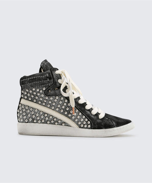 NATTY STUDDED SNEAKERS IN BLACK -   Dolce Vita