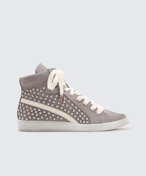 NATTY STUDDED SNEAKERS IN SMOKE -   Dolce Vita