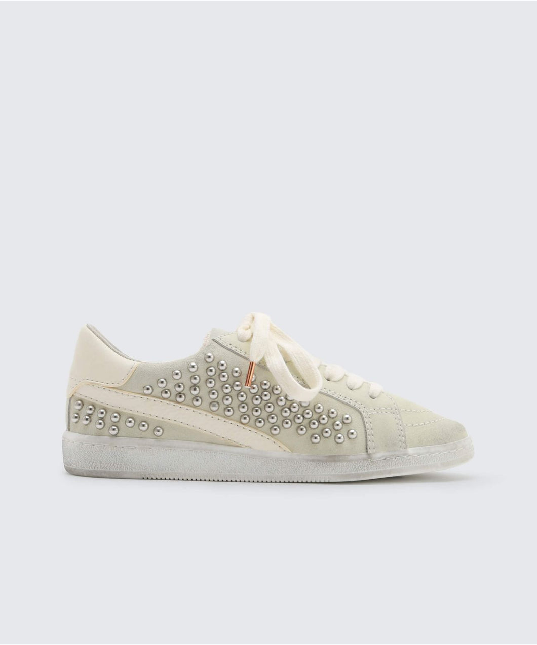 NINO STUDDED SNEAKERS IN WHITE -   Dolce Vita