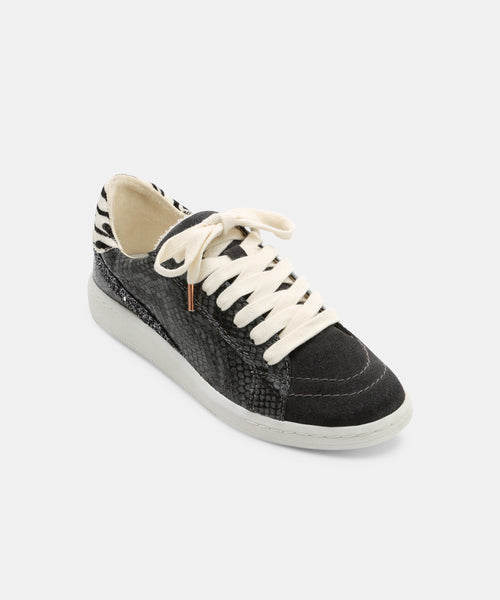 NINO SNEAKERS IN CHARCOAL SNAKE -   Dolce Vita