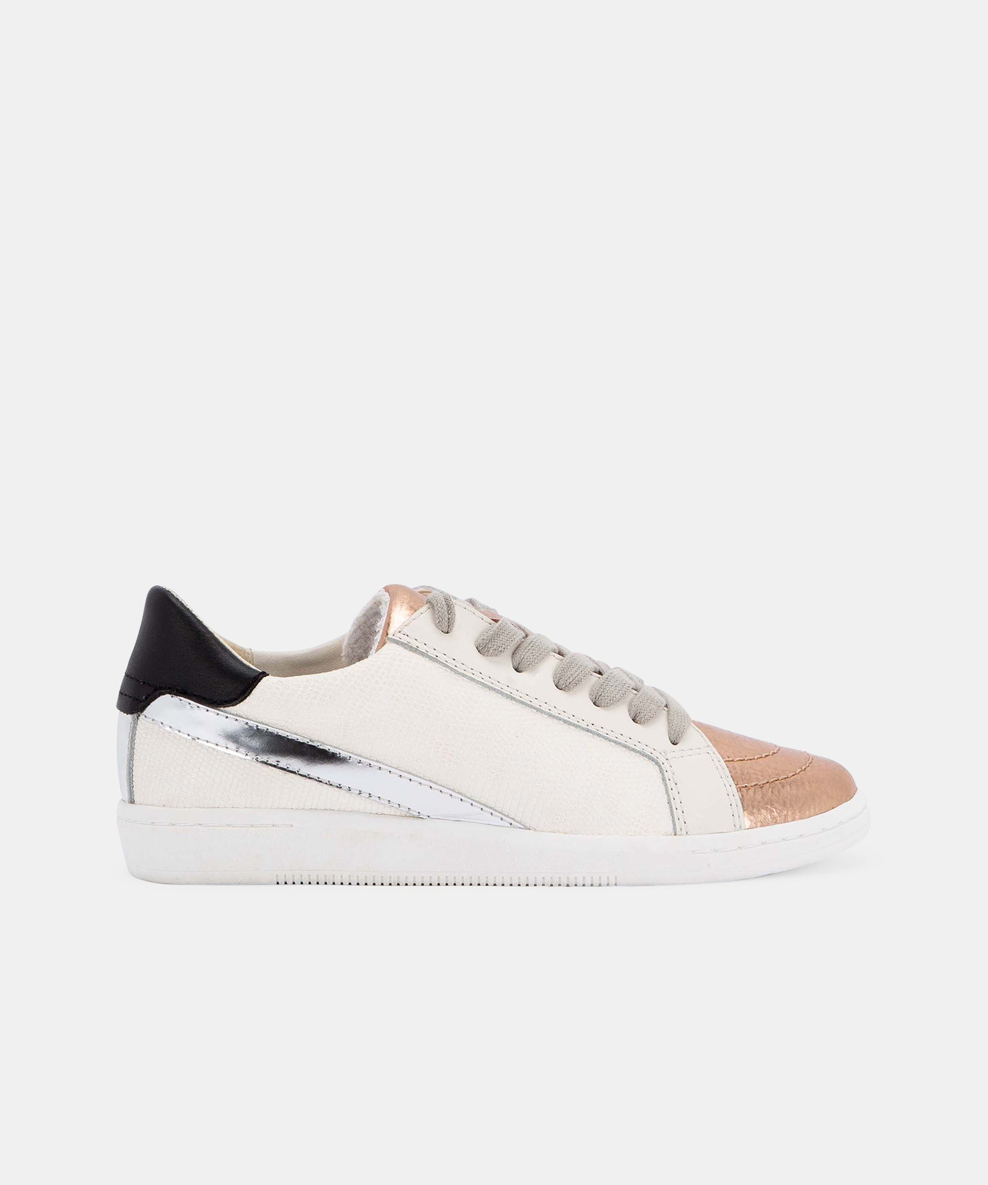 NINO SNEAKERS IN COPPER/WHITE