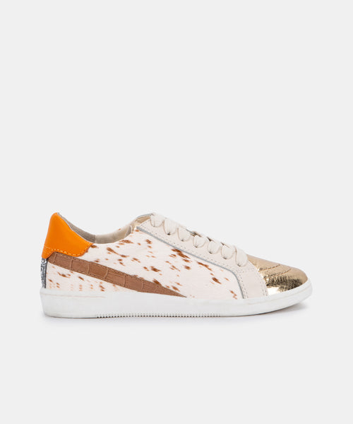 NINO SNEAKERS IN FAWN CALF HAIR -   Dolce Vita