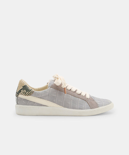 NINO SNEAKERS IN GREY CROCO -   Dolce Vita