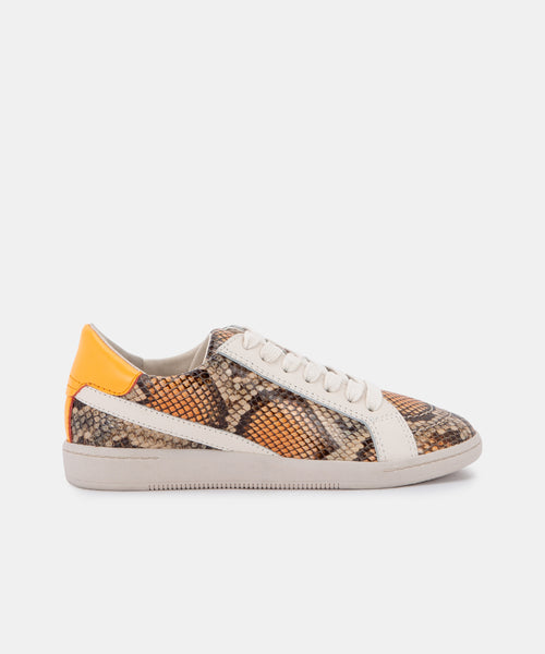 NINO SNEAKERS IN TAN MULTI SNAKE PRINT LEATHER -   Dolce Vita