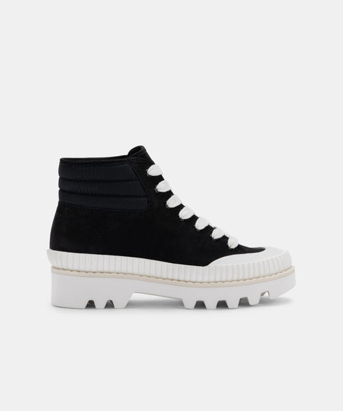 OCIANA SNEAKERS IN BLACK NUBUCK -   Dolce Vita