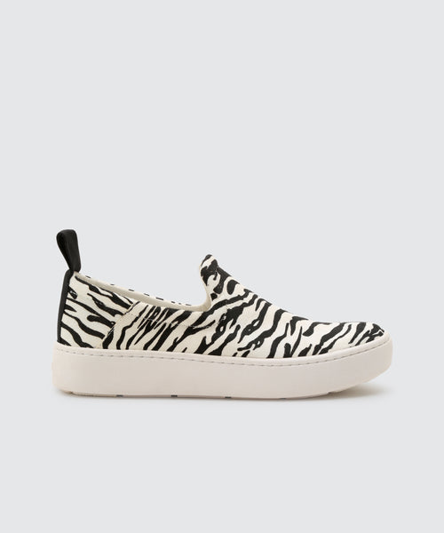 TAG SNEAKERS IN  ZEBRA -   Dolce Vita