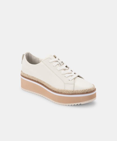 TINLEY SNEAKERS IN WHITE LEATHER -   Dolce Vita