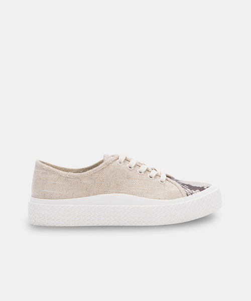 VALOR SNEAKERS IN SANDSTONE CANVAS -   Dolce Vita
