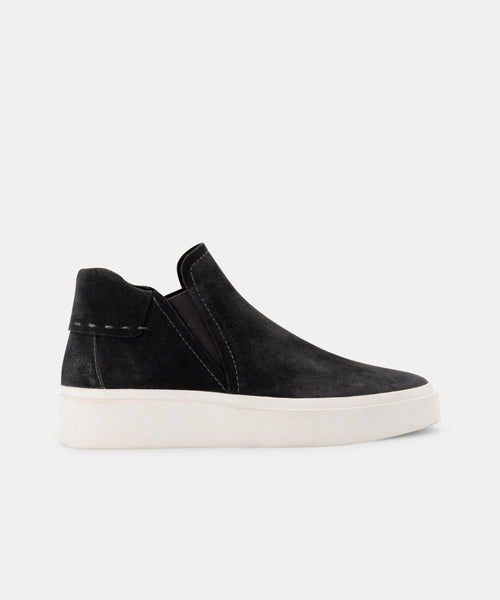 VINNI SNEAKERS IN ANTHRACITE SUEDE -   Dolce Vita