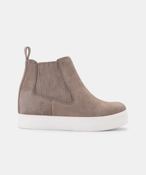WYND SNEAKERS DK TAUPE SUEDE -   Dolce Vita