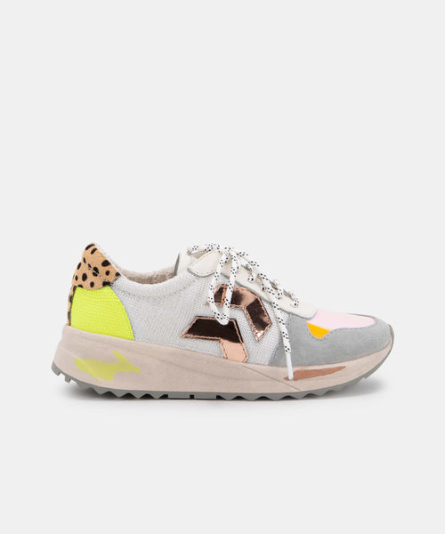 YASMEN SNEAKERS IN CITRON MULTI MESH -   Dolce Vita