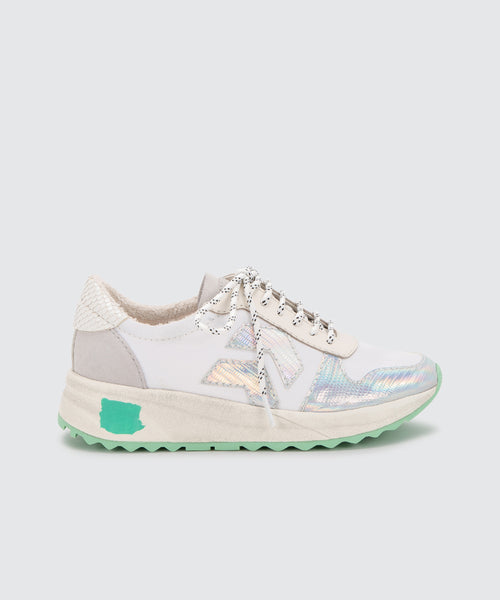 YASMEN SNEAKERS IN SILVER IRIDESCENT -   Dolce Vita