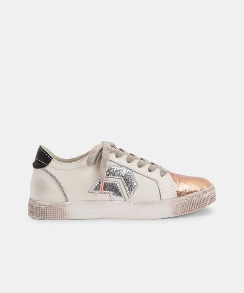 ZAGA SNEAKERS IN COPPER WHITE -   Dolce Vita