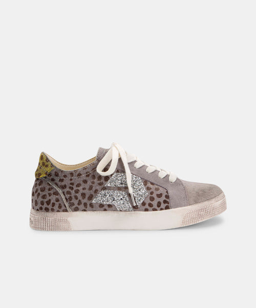 ZAGA SNEAKERS IN GREY SPOTTED -   Dolce Vita