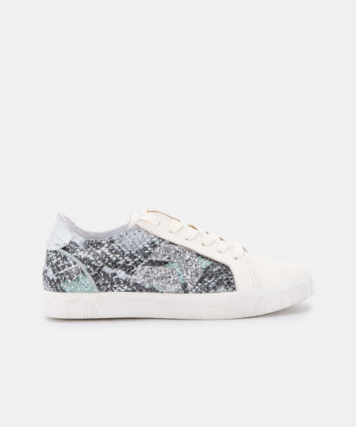 ZAGA SNEAKERS IN MINT MULTI SNAKE PRINT LEATHER -   Dolce Vita