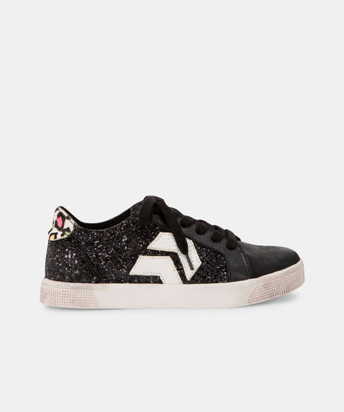 ZAGA SNEAKERS IN BLACK GLITTER -   Dolce Vita