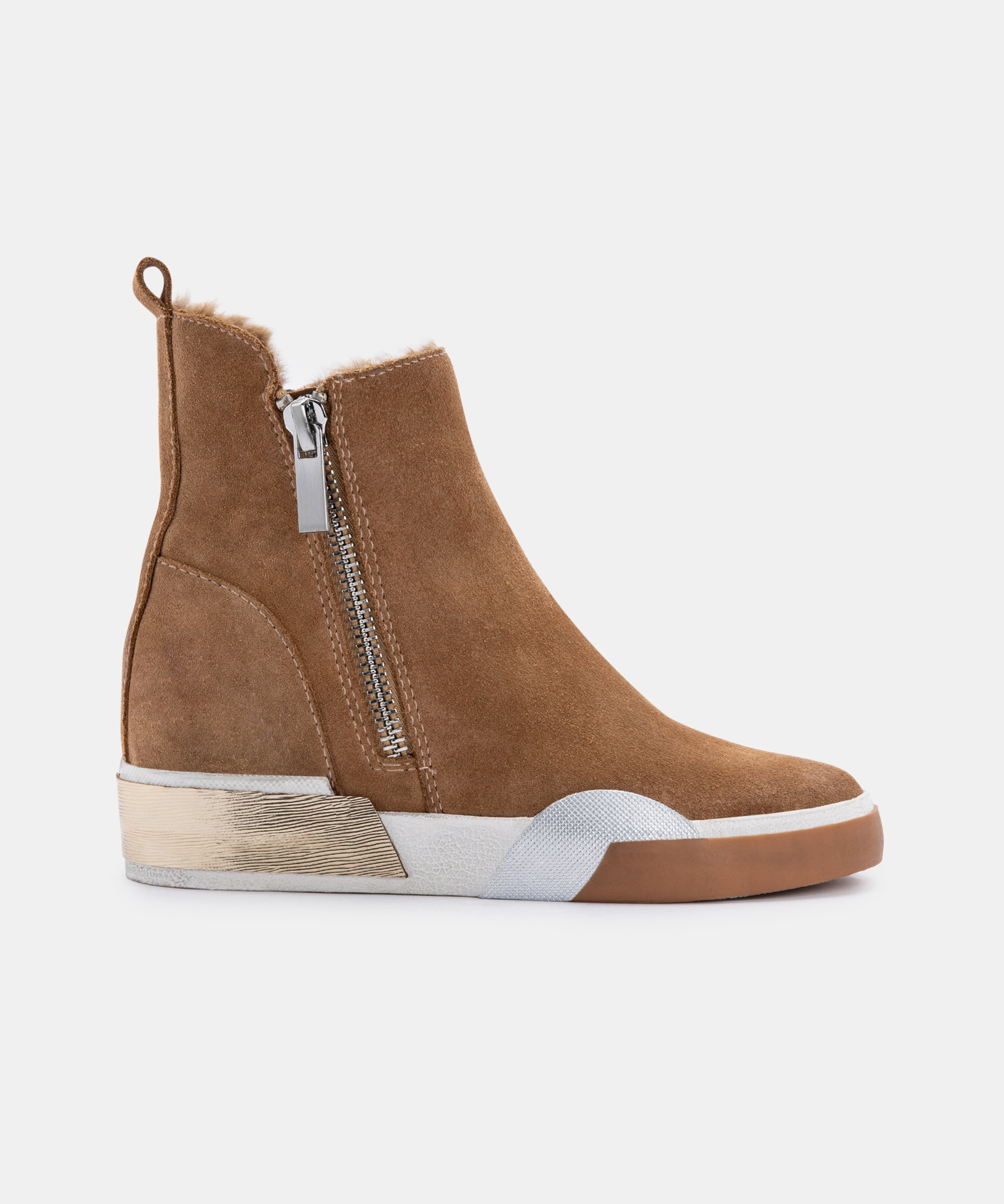 ZELMA SNEAKERS IN CASHEW SUEDE