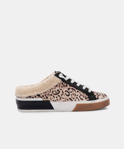 ZETA PLUSH SNEAKERS IN BEIGE LEOPARD CANVAS -   Dolce Vita