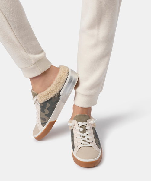ZETA PLUSH SNEAKERS IN CAMO CANVAS -   Dolce Vita