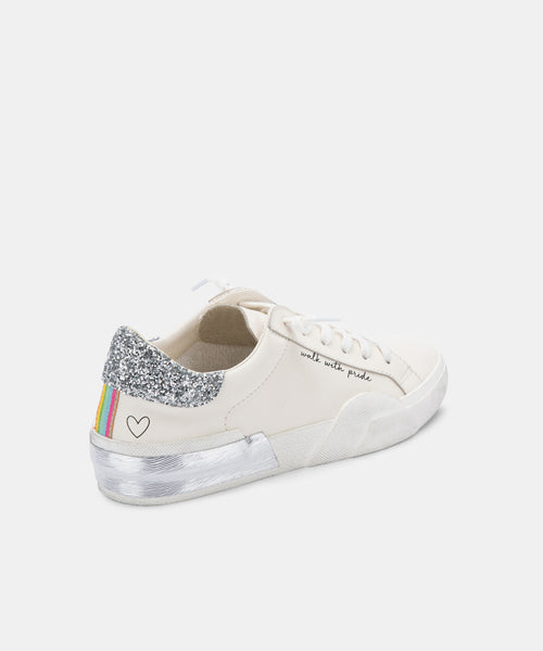 ZINA PRIDE SNEAKERS WHITE LEATHER -   Dolce Vita