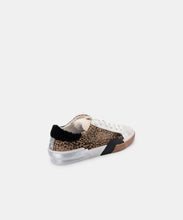 ZINA PLUSH SNEAKERS IN TAN BLACK DUSTED LEOPARD -   Dolce Vita
