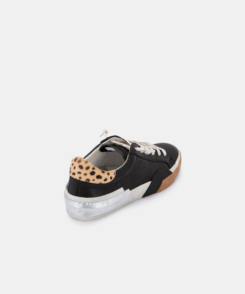ZINA SNEAKERS IN BLACK MULTI LEATHER -   Dolce Vita