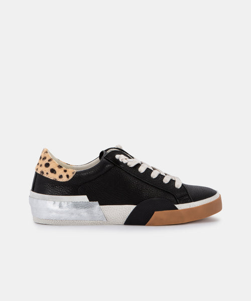 ZINA SNEAKERS IN BLACK MULTI LEATHER