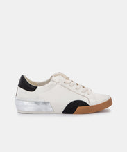 ZINA SNEAKERS IN WHITE BLACK LEATHER -   Dolce Vita