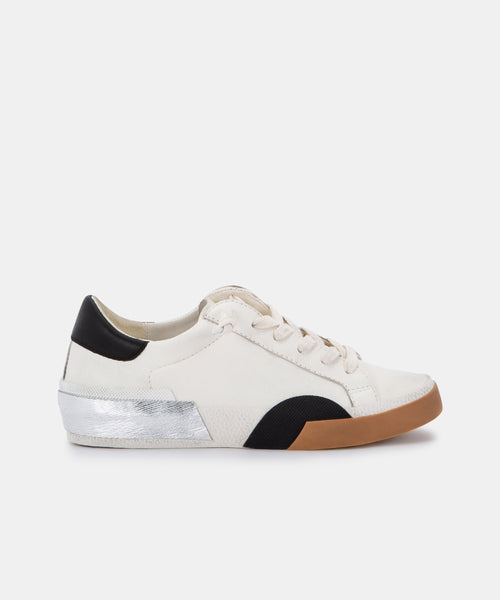 ZINA SNEAKERS IN WHITE BLACK LEATHER