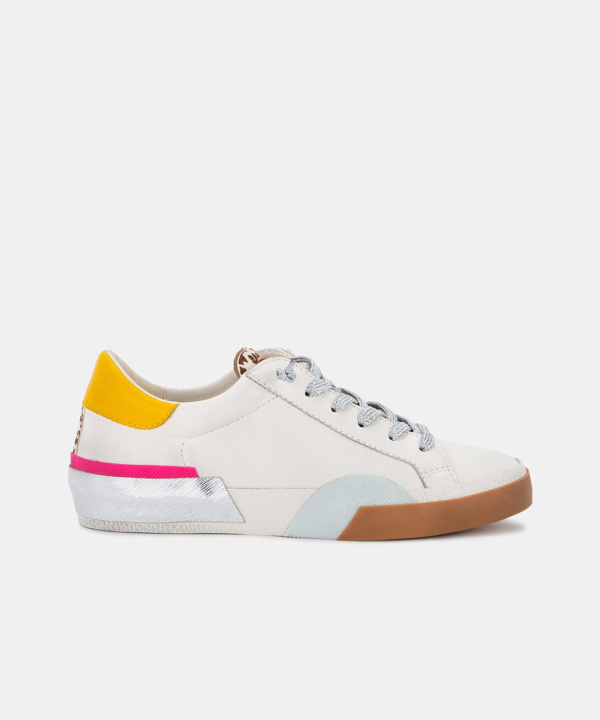 ZINA SNEAKERS IN WHITE MULTI LEATHER