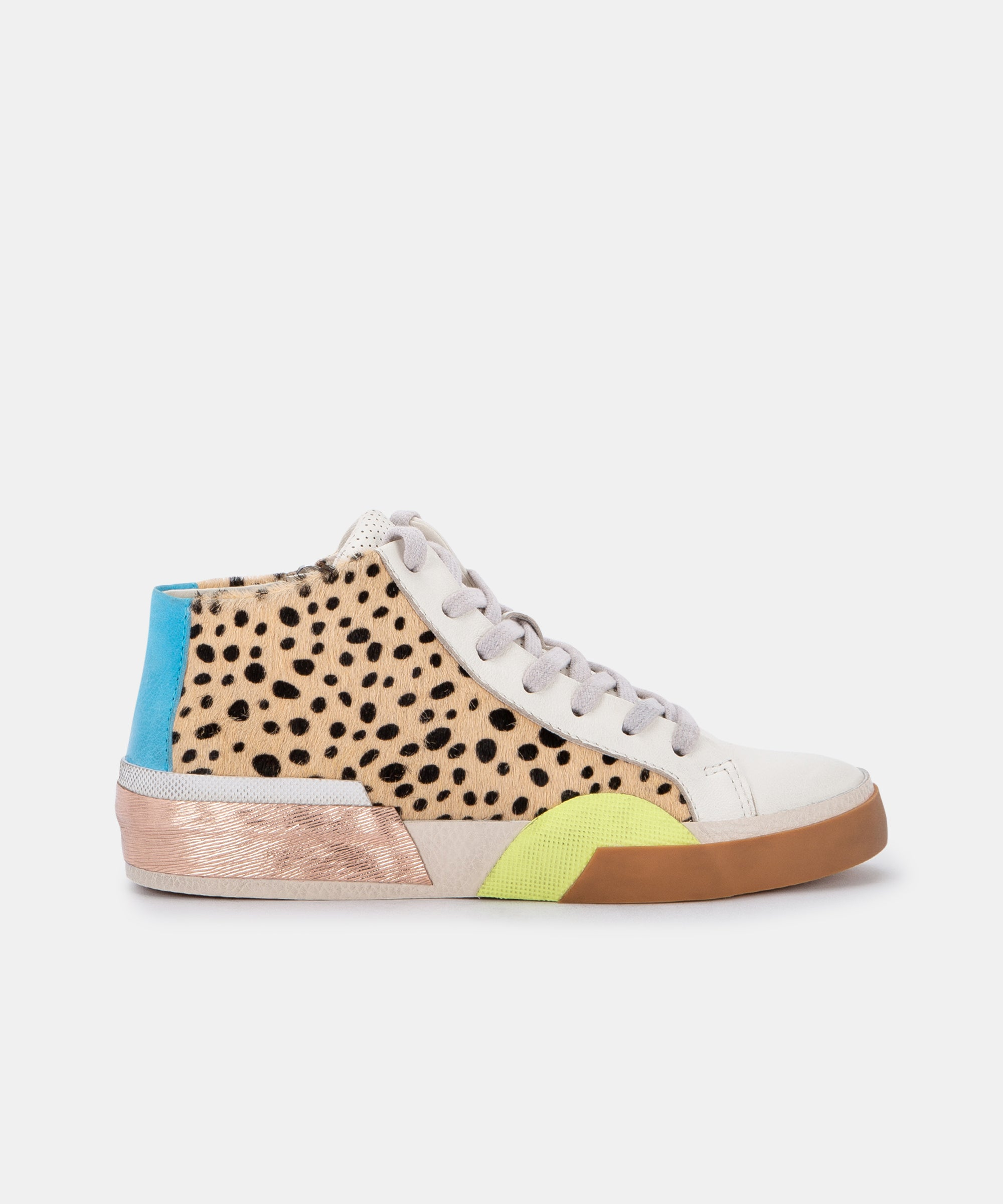 ZOEL SNEAKERS IN LEOPARD MULTI CALF HAIR
