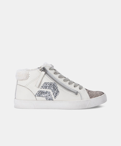 ZONYA PLUSH SNEAKERS IN STONE MULTI LEATHER -   Dolce Vita