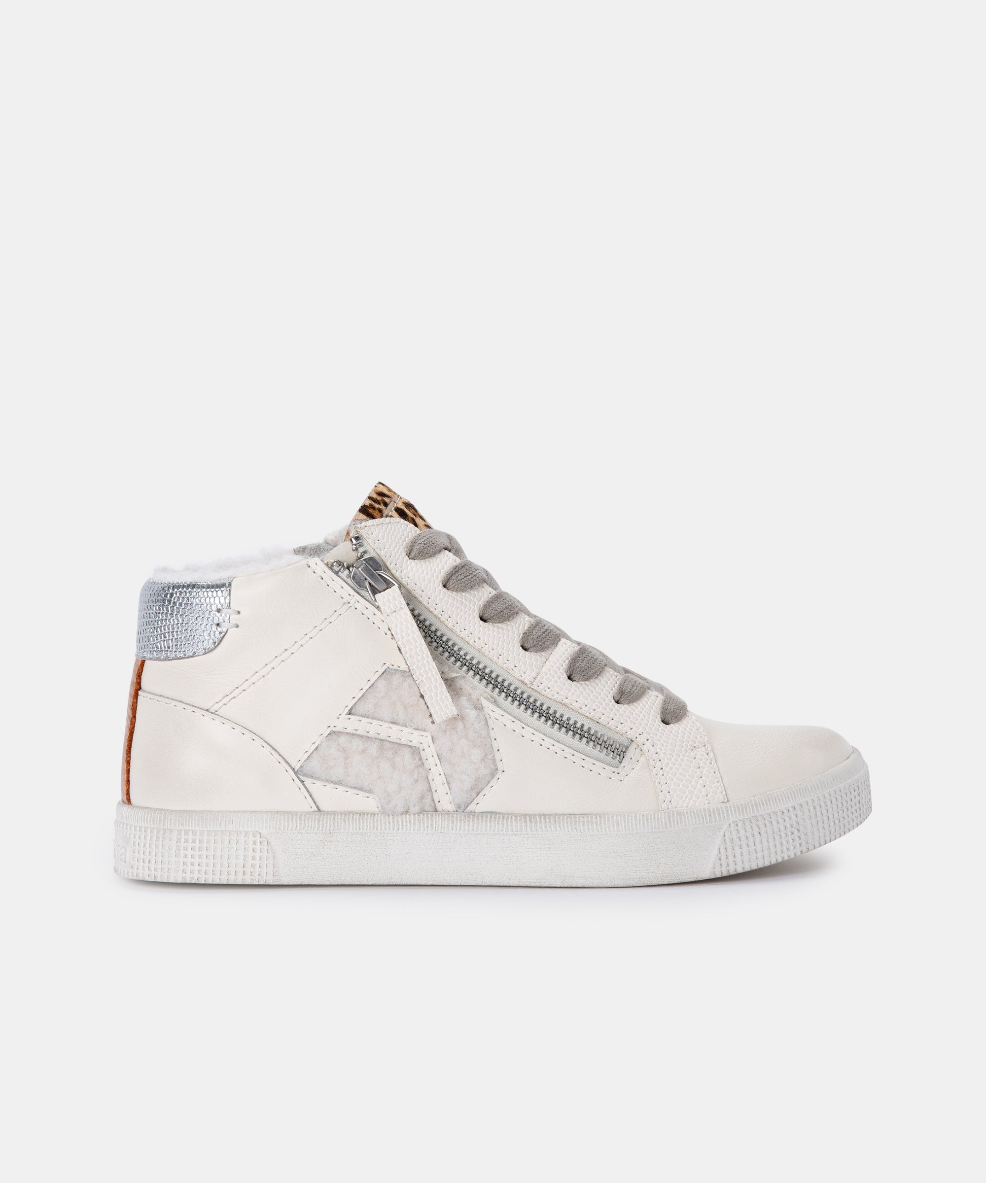 ZONYA SNEAKERS IN WHITE MULTI PLUSH
