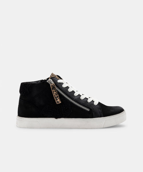 ZONYA SNEAKERS IN BLACK MULTI PLUSH -   Dolce Vita