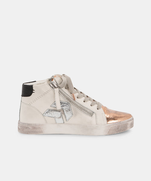 ZONYA SNEAKERS IN COPPER/WHITE -   Dolce Vita