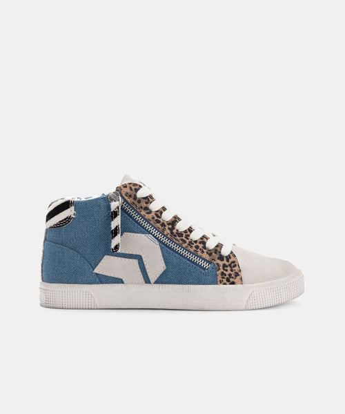 ZONYA SNEAKERS IN DK BLUE WASHED DENIM -   Dolce Vita