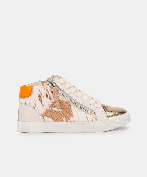 ZONYA SNEAKERS IN FAWN CALF HAIR -   Dolce Vita