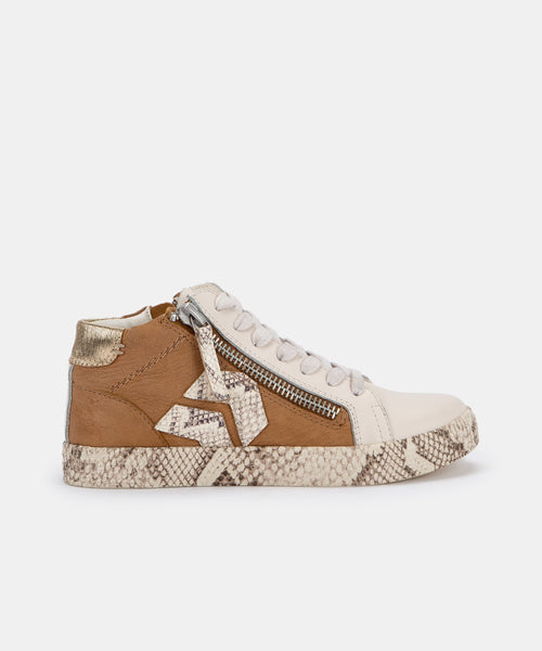 ZONYA SNEAKERS IN TAN MULTI NUBUCK -   Dolce Vita