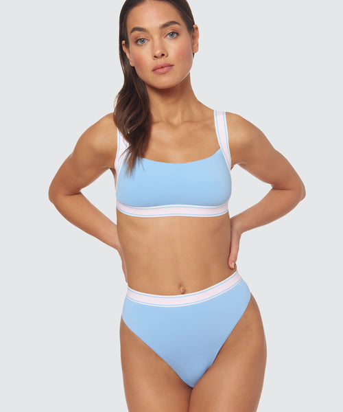FAST LANE BOXER ELASTIC TOP IN BLUE -   Dolce Vita