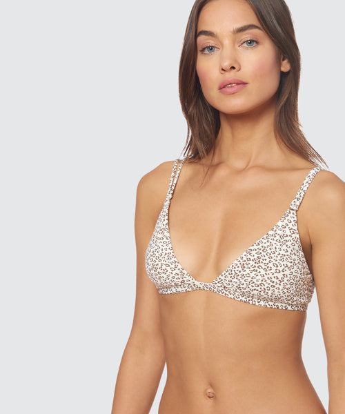 MICRO CHEETAH DOUBLE STRAP TOP CHEETAH -   Dolce Vita