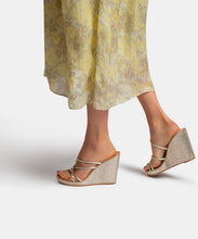 NAYA WEDGES IN LIGHT GOLD LEATHER -   Dolce Vita