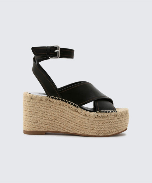 CARSIE WEDGES IN BLACK -   Dolce Vita