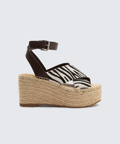 CARSIE WEDGES IN ZEBRA -   Dolce Vita