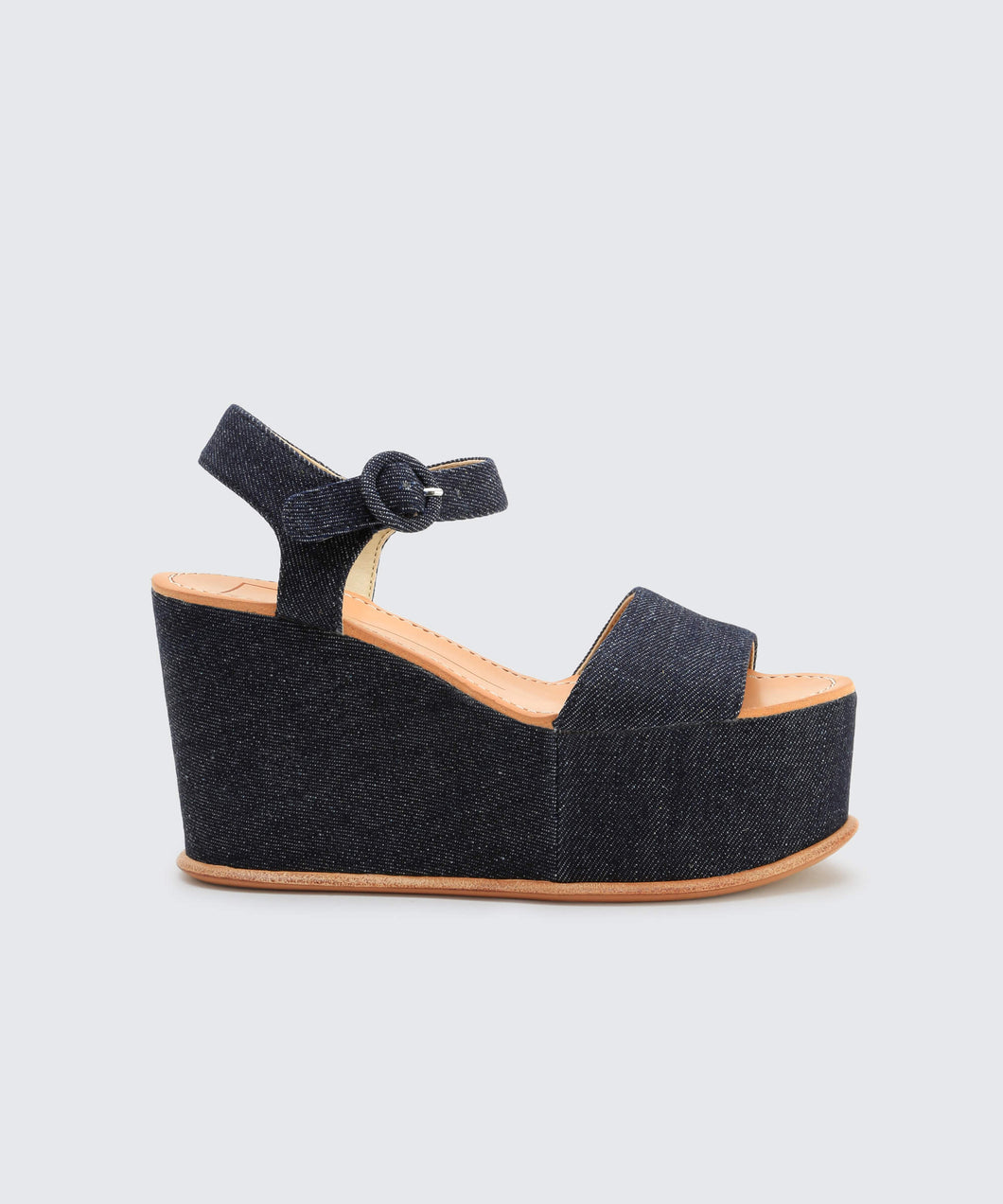 DATIAH WEDGES IN DK DENIM -   Dolce Vita